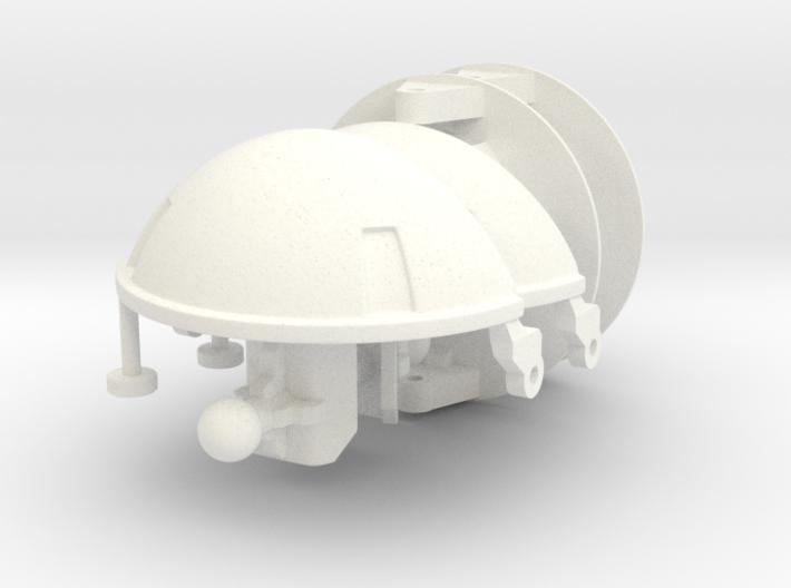 Rau - Shoulder Missiles; Cannon Hub 3d printed