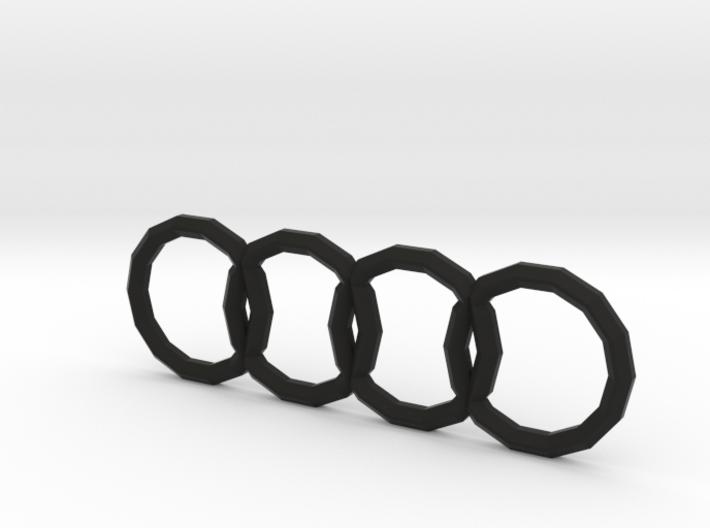 Polygonal Audi Logo (Rear) 3d printed