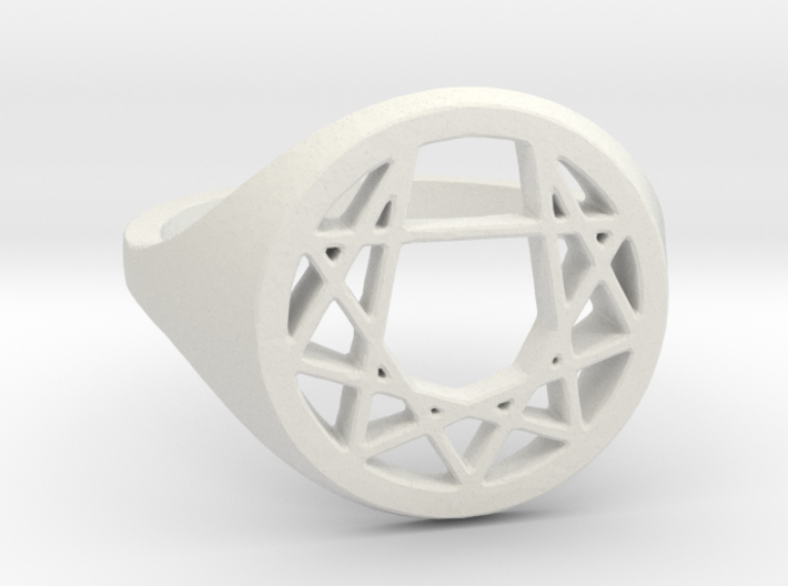 Enneagram Ring - Size 8.5 (18.54 diameter) 3d printed