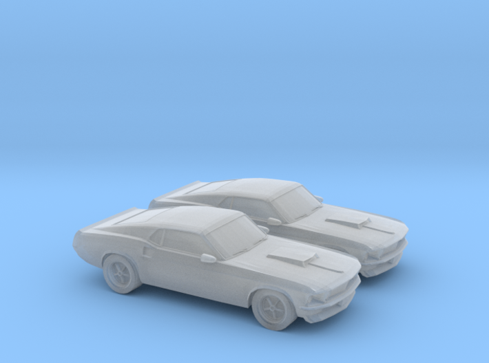 1/160 2X 1969 Ford Mustang Boss 429 3d printed