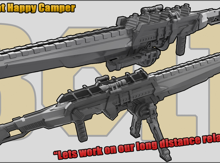 Happy Camper: Sniper Rifle 3d printed