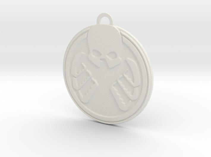Shield Hydra Pendant 3d printed