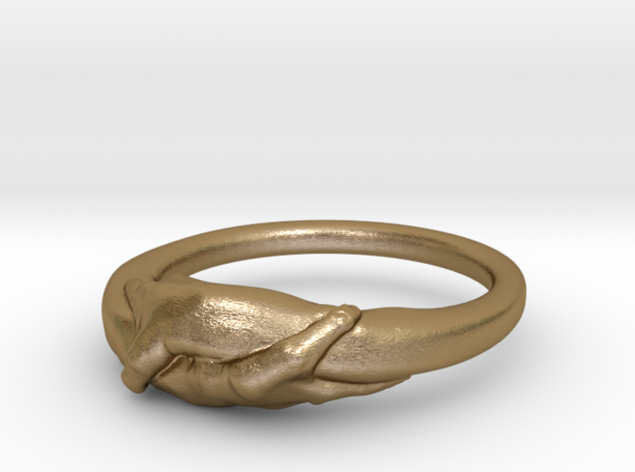 Rome Handshake Ring Size(US)-6 (16.51 MM) 3d printed