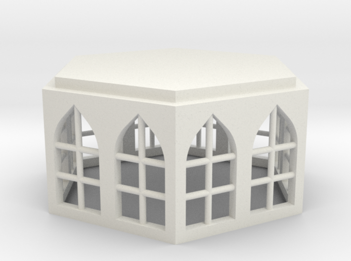 15mm Building Unit with Gothic Windows 3d printed