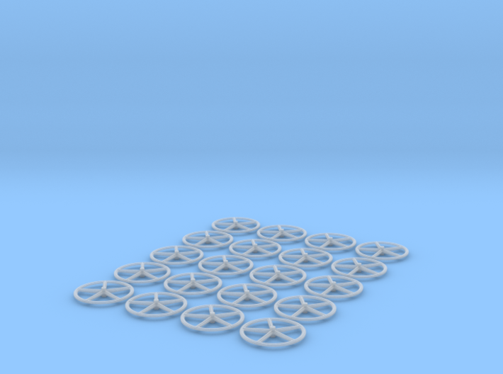 Valve Wheel 13mm 20pcs 3d printed