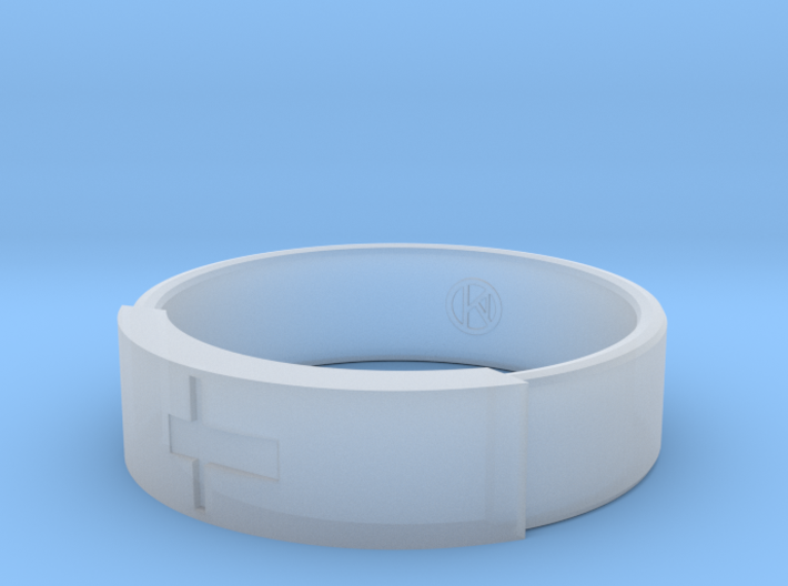 Ring with jesus 3d printed