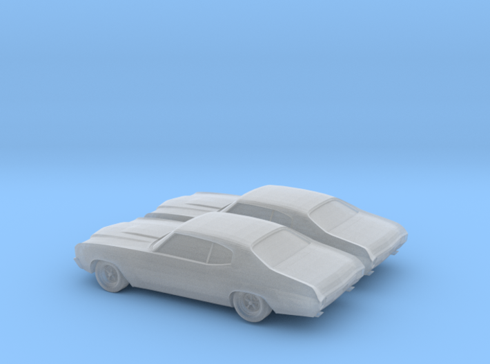 1/160 2X 1970 Chevrolet Chevelle SS 3d printed