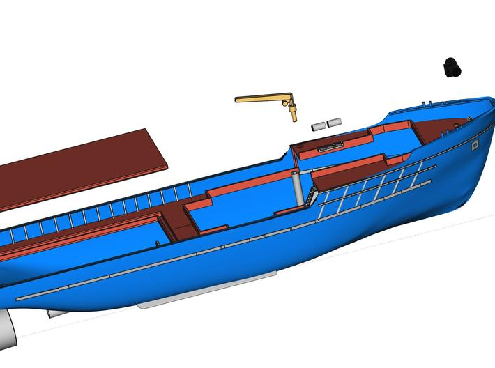 MV Anticosti, Details 1/2 (1:200, RC ship) 3d printed detailing parts for hull (not included)
