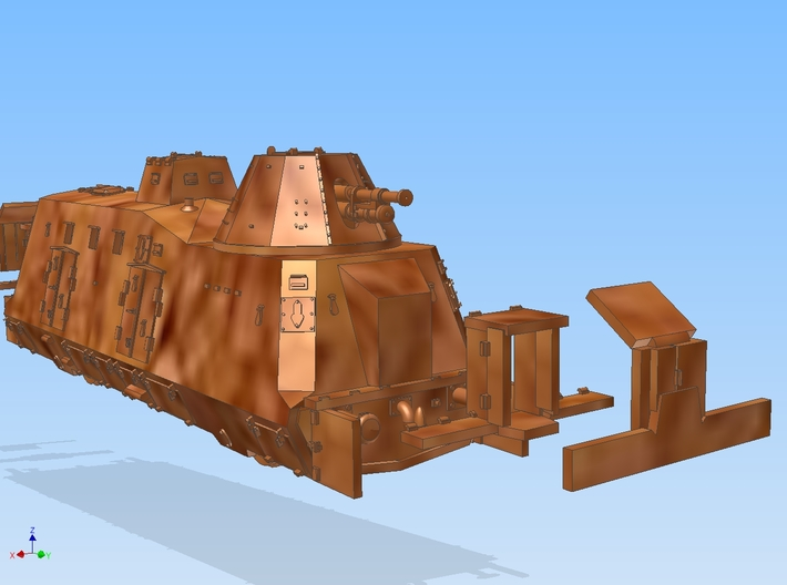 1-120 G-Wagen Armored Train BP-42 3d printed