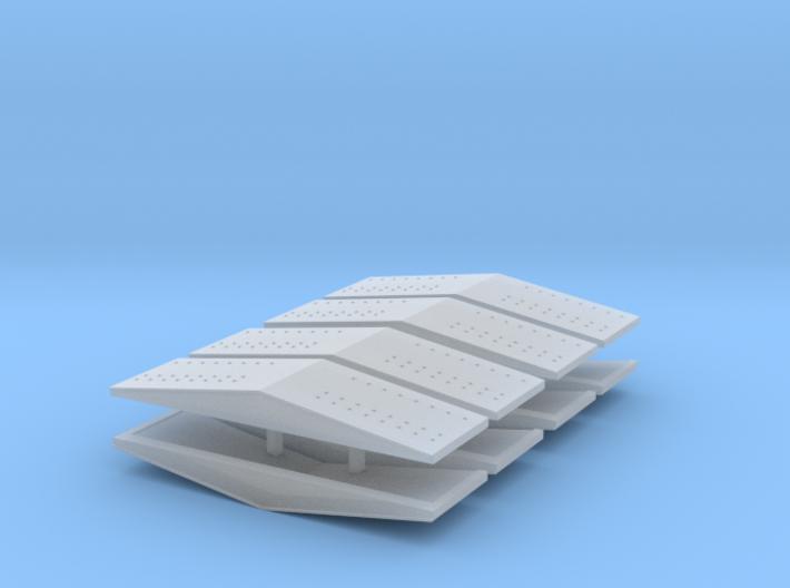 #5b Ballast Car End Roofs 3d printed