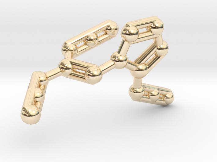 Azidoazide Azide Molecule Necklace 3d printed