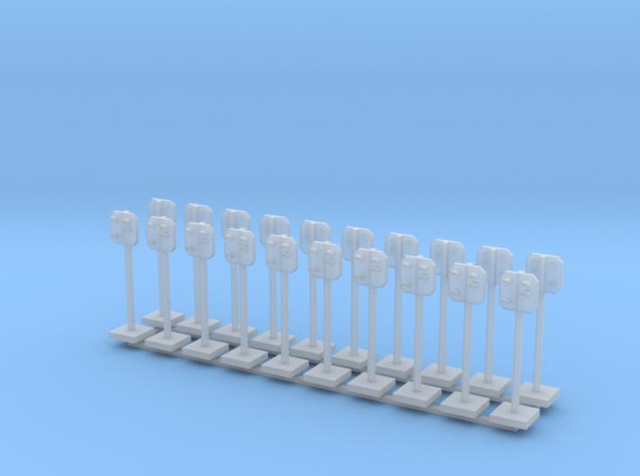 20 Stück: SBB Vorsignal Spur Z (1:220) 3d printed