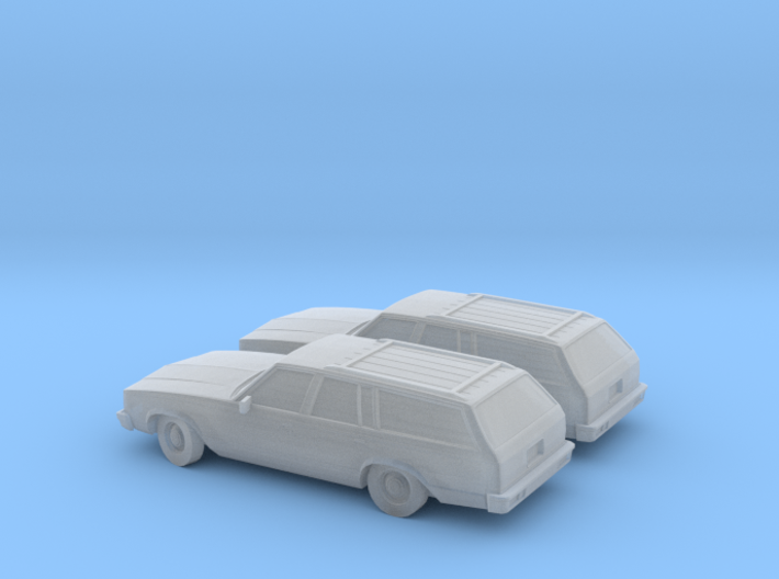 1/160 2X 1980 Chevrolet Malibu Station Wagon 3d printed
