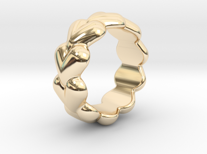 Heart Ring 32 - Italian Size 32 3d printed