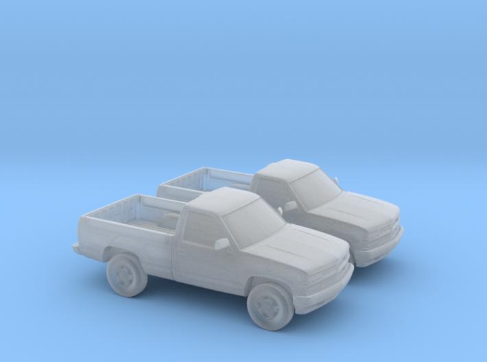 1/160 2X 1994 Chevrolet Silverado Single Cab 3d printed