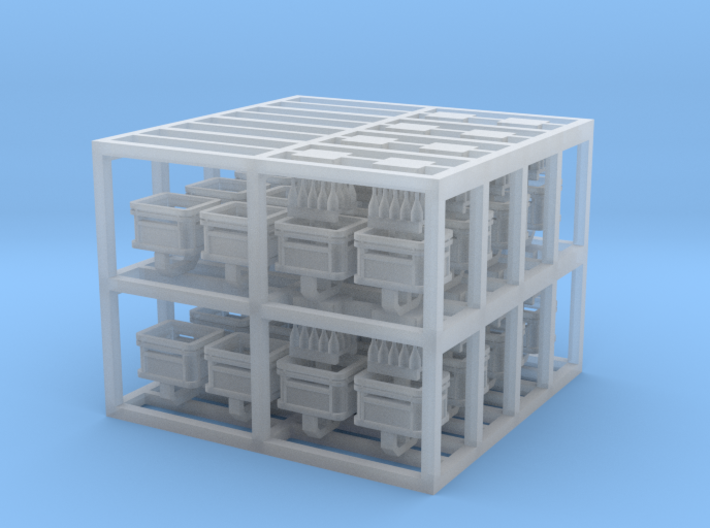 Beer Crates, N-gauge 3d printed