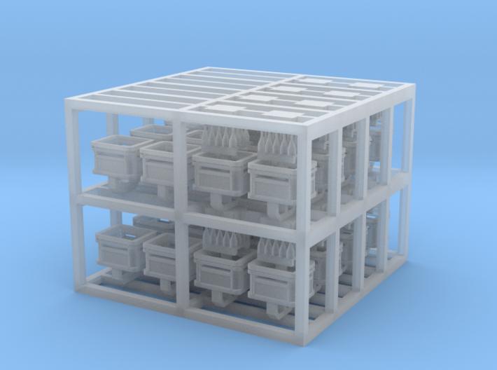 Beer Crates, N-gauge 3d printed