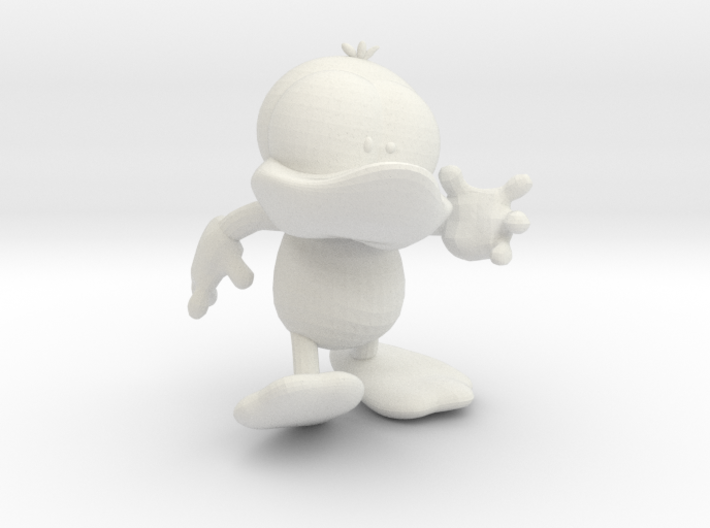 Dummy Duck Action Pose (smaller) 3d printed