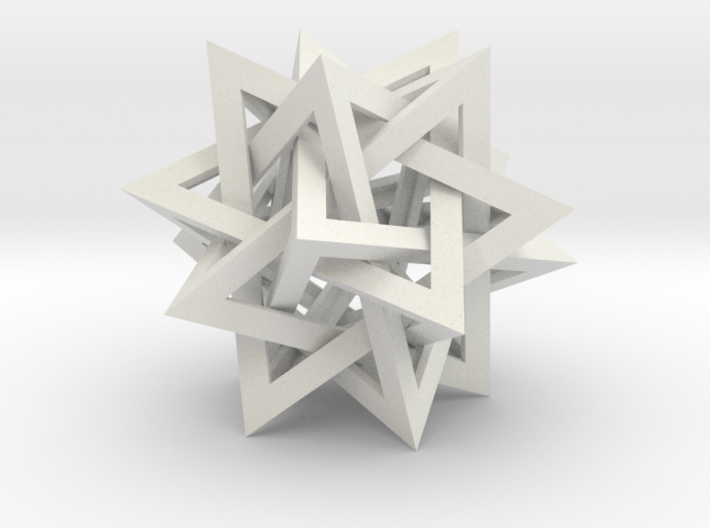 Tetrahedron 5 Compound 3d printed