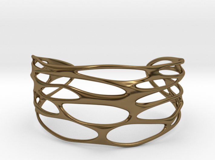 Cuff 'Stretched Quaders' 3d printed