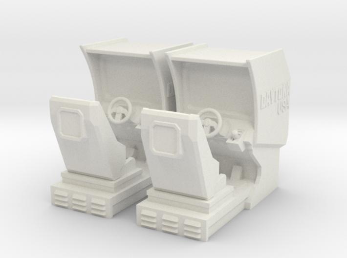 Driving Arcade Machine (Daytona) 3d printed