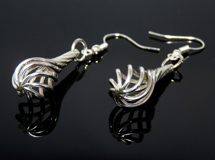 Eardrops (from $15.00) 3d printed In Premium Silver finish