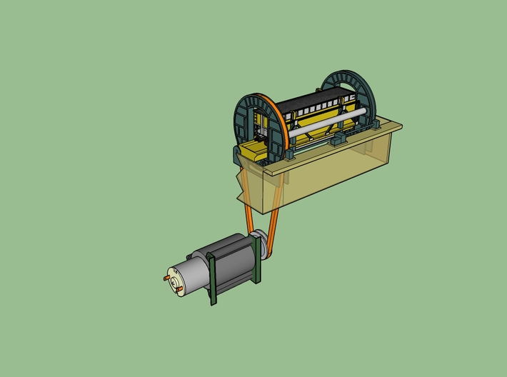 N Coal Rotary Dumper FUD Parts 3d printed possible build with a motor