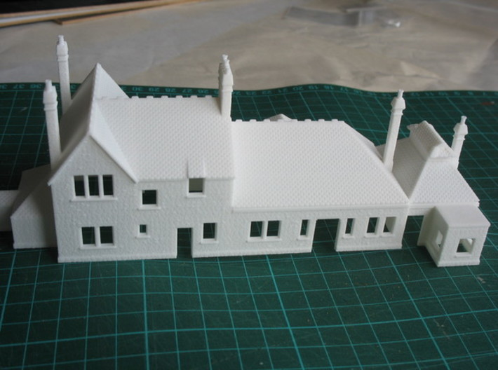Corfe Castle railway station N Scale 1:148 3d printed