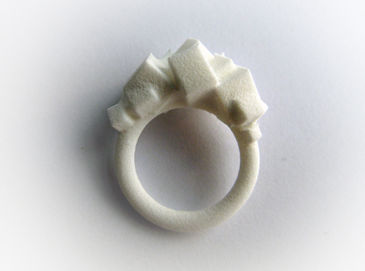 Rock Ring size 6 3d printed