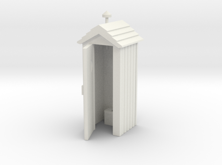 Outhouse Door Open - Qty (1) HO 87:1 Scale 3d printed
