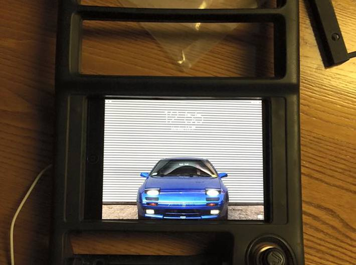FC RX7 IPAD MINI DASH MOUNT FOR SERIES 5 STEREO BE 3d printed Fitting out of car