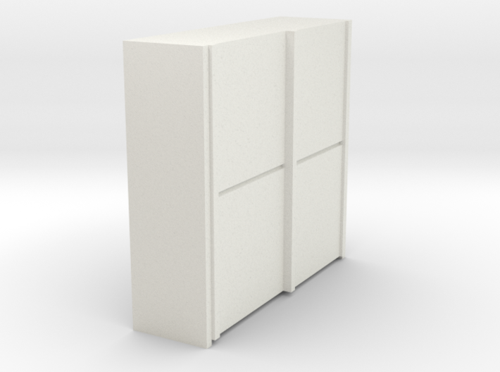 A 010 sliding closet Schiebeschrank 1:87 3d printed