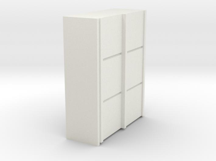 A 012 sliding closet Schiebeschrank 1:87 3d printed
