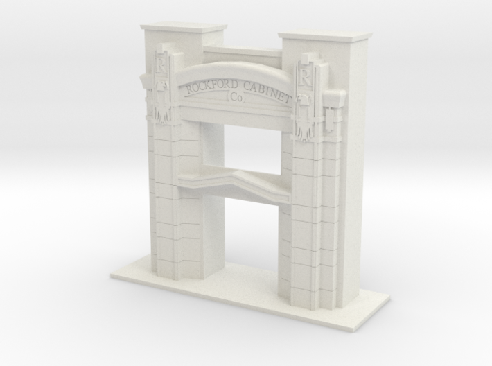 1/96 SCALE ROCKFORD CABINET COMPANY ENTRY 3d printed