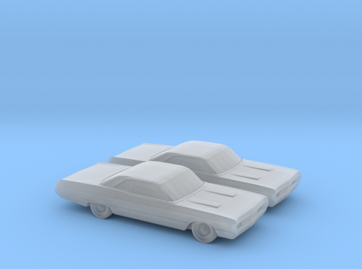 1/160 2X 1970 Plymouth Fury Coupe 3d printed