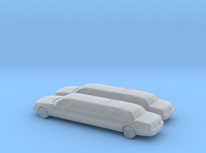 1/160 2007 2X Lincoln Town Car Super Stretch 3d printed