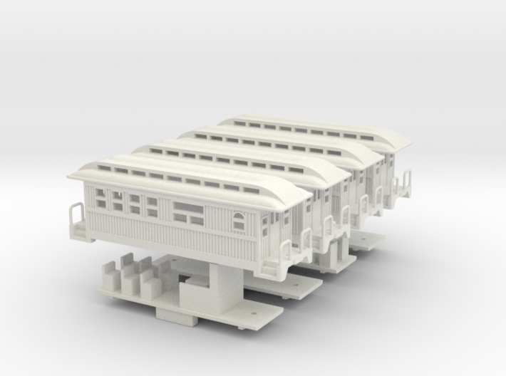 Z Scale Overton Passenger Cars 3d printed