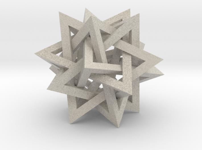 "Tetrahedron 5 Compound, 2.4"" diameter 3d printed"