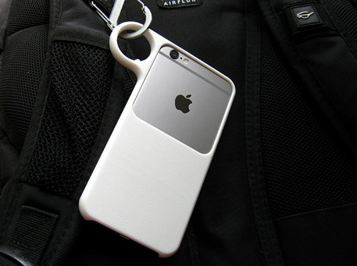 Ring case for iPhone 6 and 7 3d printed Clip it on