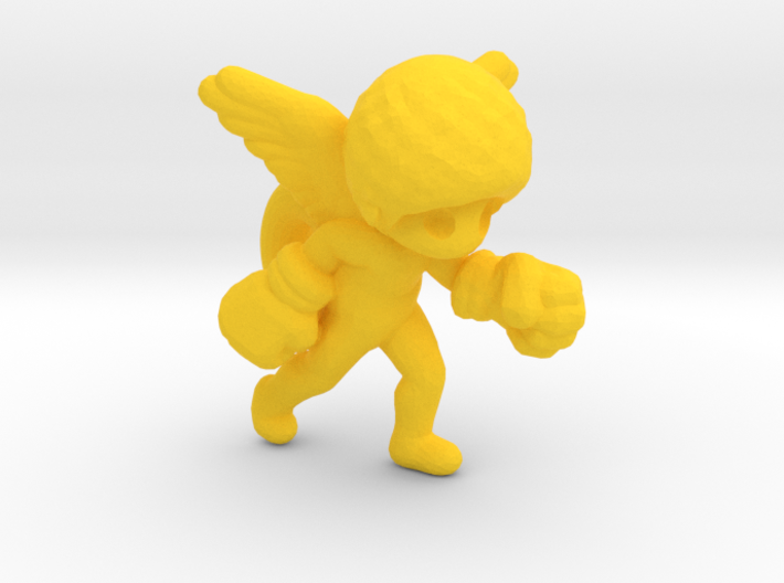 Afro Angel 3d printed