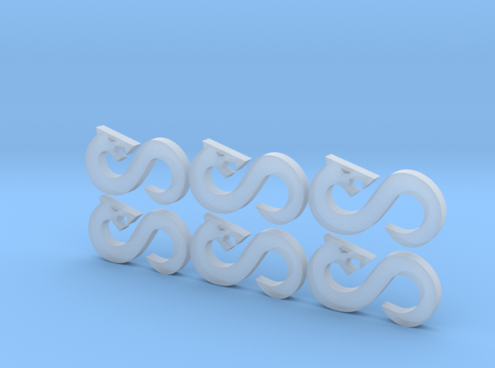Infinity Snake - 6, 12mm Icons 3d printed