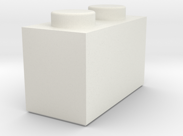 1x2 Lego Brick 3d printed