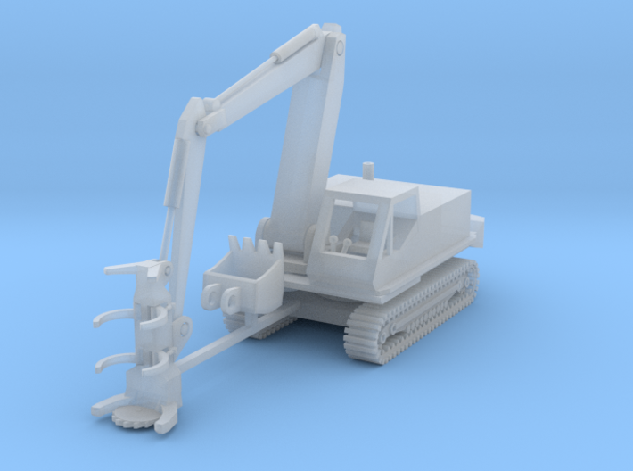 Tracked Feller Buncher Z Scale 3d printed