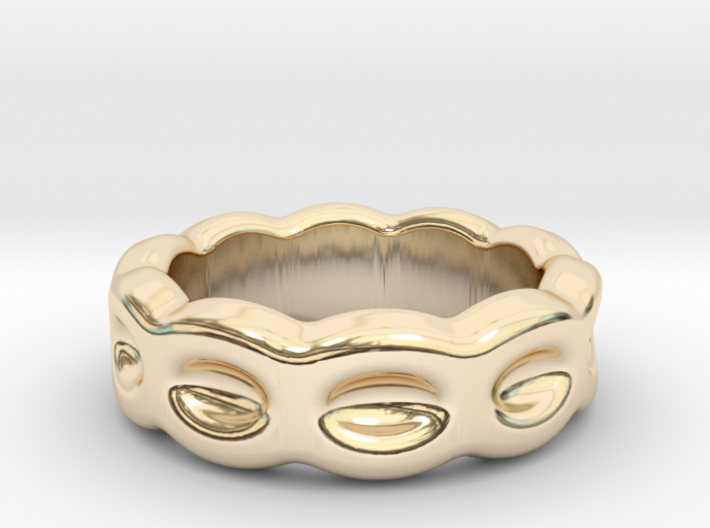 Funny Ring 18 - Italian Size 18 3d printed