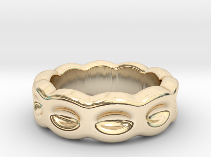 Funny Ring 25 - Italian Size 25 3d printed