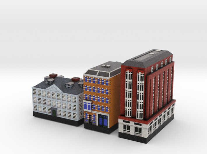 Amsterdam Three Buildings  3d printed