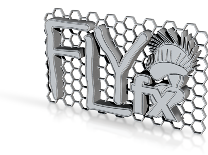 FLYfx Logo On Honeycomb 3d printed