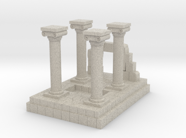 Greek Miniature Terrain 3d printed