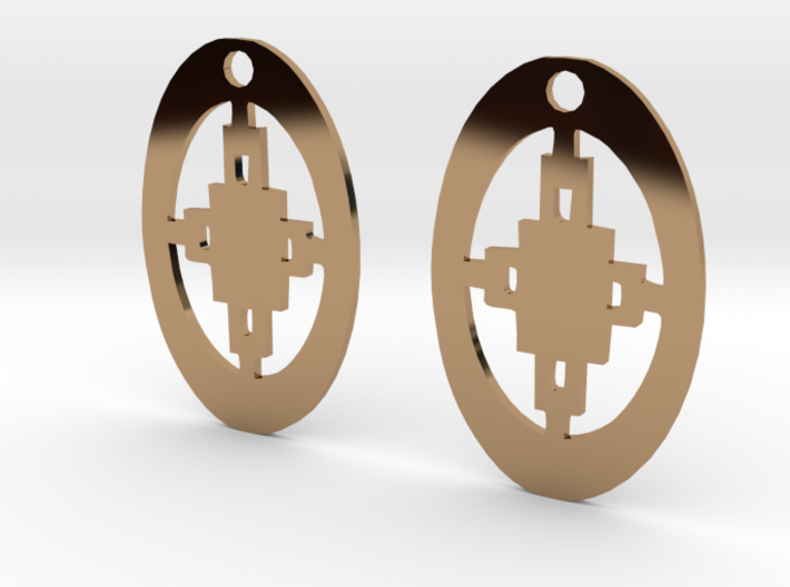 Adinkra Collection -Intelligence Earrings (metals) 3d printed