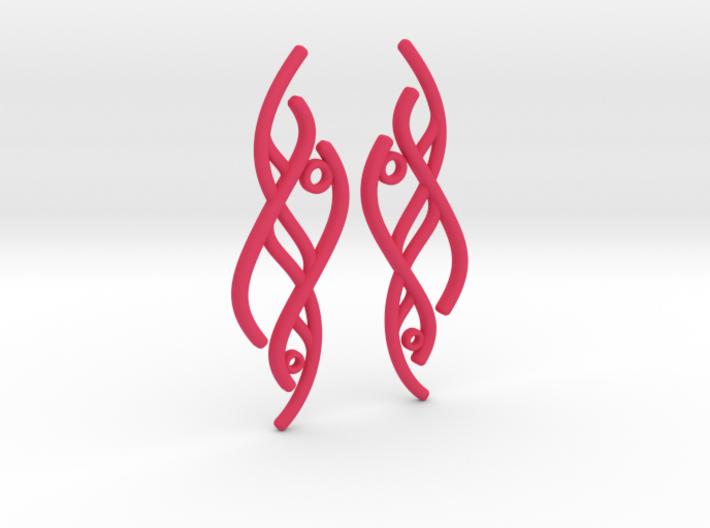 S-Curve Earrings 3d printed
